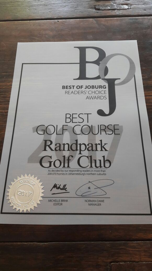 Best of Joburg Award